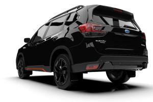 Rally Armor UR Mudflaps Black Urethane Grey Logo - Subaru Forester 2019+