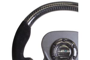NRG Carbon Fiber Steering Wheel 320mm Suede Black - Universal