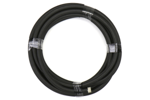DeatschWerks 6AN Black Nylon Braided CPE Hose 20 Feet - Universal