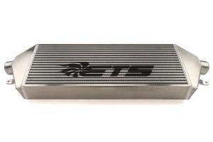 ETS Front Mount Intercooler Silver Core Black Stencil - Subaru STI 2008 - 2014