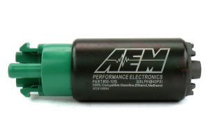 AEM 340lph E85 Hi Flow In-Tank Fuel Pump w/ Hooks ( Part Number:AEM 50-1215)