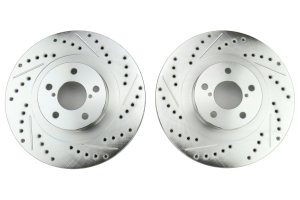 Stoptech C-Tek Sport Drilled and Slotted Front Rotor Pair - Subaru Models (inc. 2002-2008 WRX)