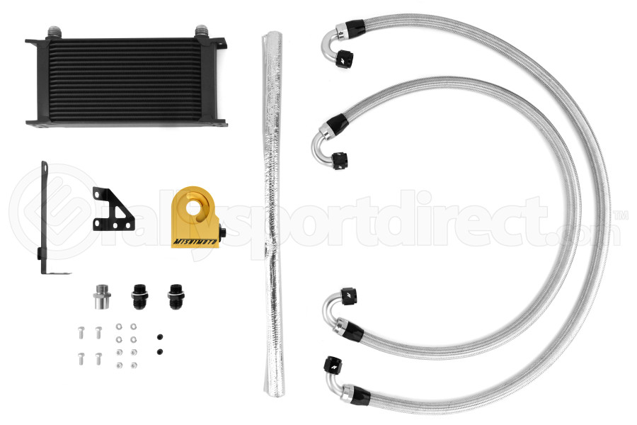 Mishimoto Thermostatic Oil Cooler Kit Black (Part Number:MMOC-STI-15TBK)