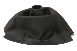 AutoStyled Black Leather Shift Boot w/ Red Stitching Standard Shifter ( Part Number:ASA 1301020101)