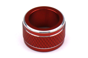 JDM Station Textured Mirror Control Trim Knob Red - Subaru Models (inc. 2015+ WRX / 2014+ Forester)