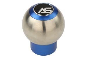 AutoStyled Shift Knob Blue w/ Stainless Steel Center - Ford Focus RS 2016+ / Ford Focus ST 2013+ / Ford Fiesta ST 2014+
