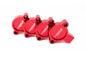 Torque Solution AVCS Cam Sensor Covers Red - Subaru Models (inc. 2015+ WRX / 2013+ BRZ)
