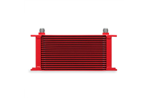 Mishimoto Universal 19 Row Oil Cooler Red - Universal