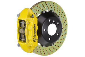 Brembo GT-R Systems 4 Piston Rear Big Brake Kit Yellow Drilled Rotors - Ford Mustang EcoBoost 2015+