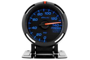 Defi Blue Racer Pressure Gauge Imperial 52mm 140 PSI (Part Number: )