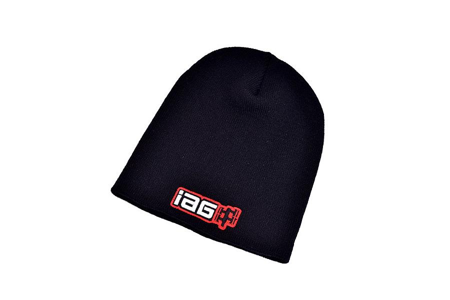 IAG Black Knit Beanie Cap - Universal