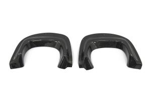 OLM VA Style Carbon Fiber Rear Bumper Exhaust Finishers - Subaru WRX / STI 2015+