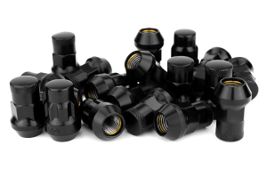 Muteki SR35 16+4 Closed Ended Black Lug Nuts 35mm 12x1.50 ( Part Number:KIC 32926BP)