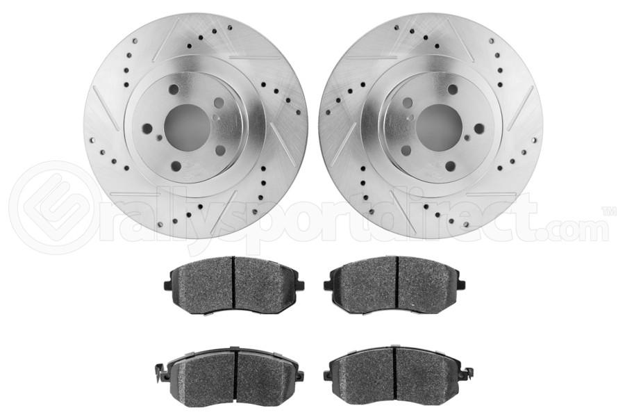 Hawk Performance Rotors w/ HPS 5.0 Pads Kit Front (Part Number:HK5339.432B)