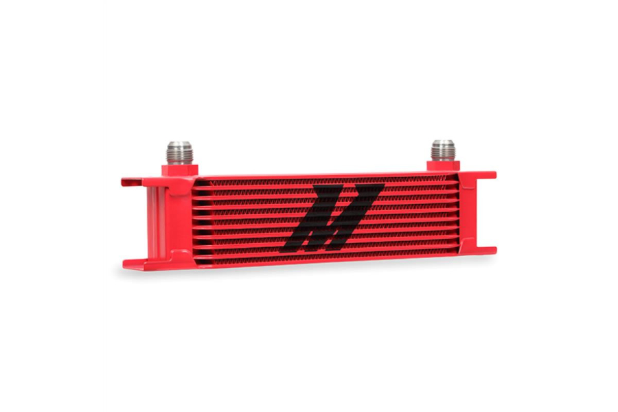 Mishimoto Universal 10 Row Oil Cooler Red - Universal