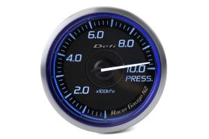 Defi DF Blue Racer N2 SI Pressure Gauge Metric 60mm - Universal