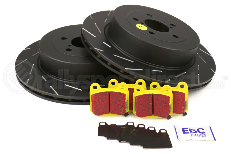 EBC Brakes S9 Rear Brake Kit Yellowstuff Pads and USR Rotors - Subaru STi 2004