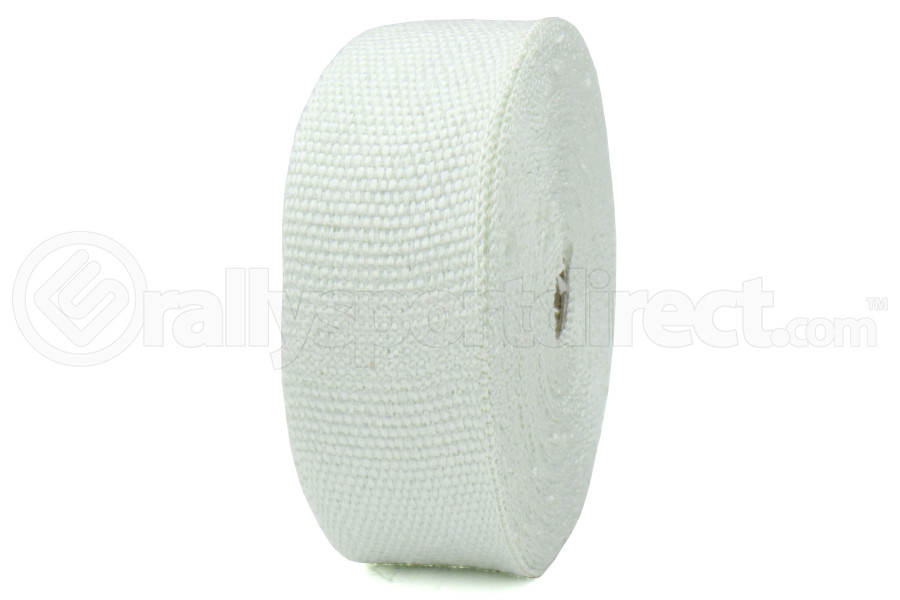 ProSport Fiberglass Heat Wrap White 50ftx2in roll w/ 5 Stainless Steel Zip Ties (Part Number:HEA-WRAP KIT-WHT)
