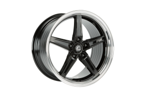 Cosmis Racing Wheels R5 18x8.5 +40 5x108 Black w/ Machined Lip wheel - Universal