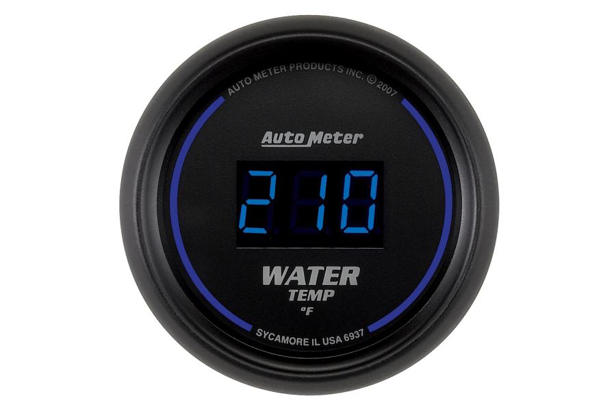 Autometer Cobalt Water Temp Gauge Digital Blue Led 52mm - Universal