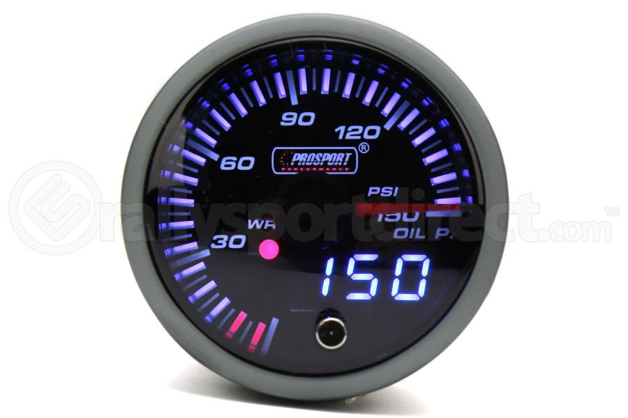 ProSport JDM Electric Dual Display Oil Pressure Gauge w/Premium Sender (Part Number:216JDMOP-R.PSI)