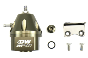 DeatschWerks DWR1000 Adjustable Fuel Pressure Regulator Anodized Titanium ( Part Number: 6-1000-FRT)