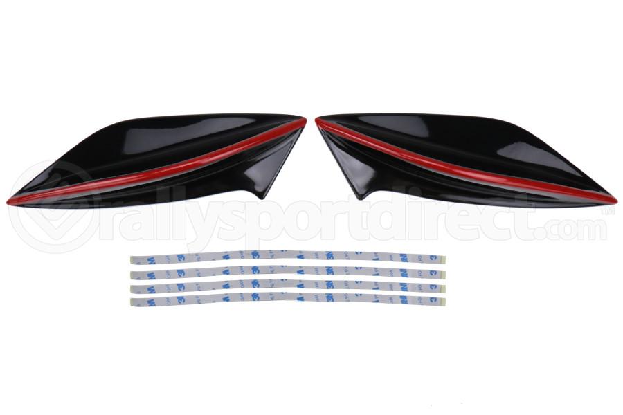 OLM STI Redline Spoiler Side Fins - Subaru WRX / STI 2015 - 2020
