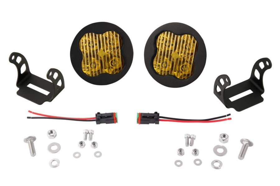 Diode Dynamics SS3 Pod Max Fog Light Kit Yellow - Universal
