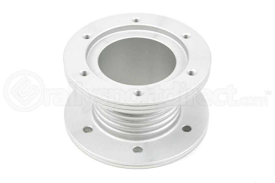steering flange sparco steering wheel spacer aluminum silver 1 01595ant