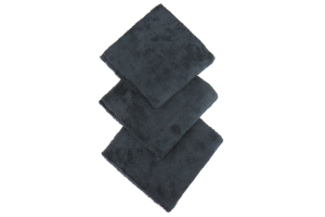 Chemical Guys Happy Ending Edgeless Microfiber Towels Black - (3 Pack) - Universal
