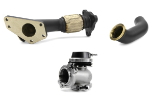 GrimmSpeed and Turbosmart 44/45mm Black Ceramic Coated EWG 3-Bolt Uppipe Black Wastegate Kit ( Part Number: 007080-TBS-BK)