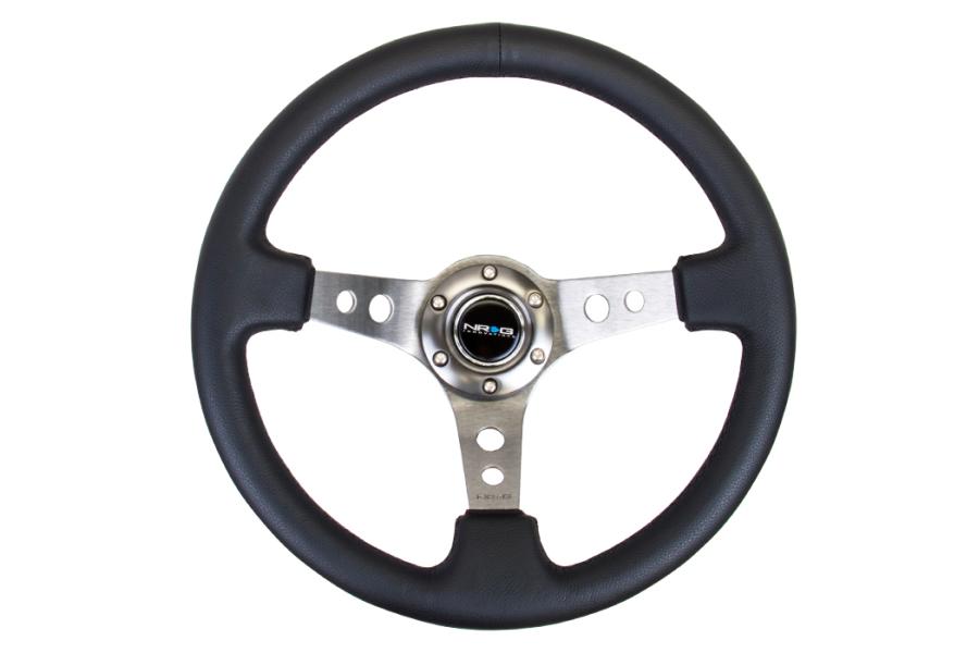 NRG Reinforced Steering Wheel 350mm 3in Deep Gun Metal (Part Number:RST-006GM)
