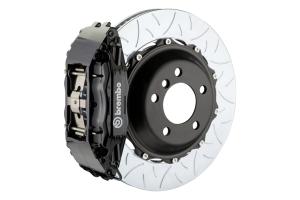 Brembo GT System 4 Piston Front Brake Kit Black Type 3 Slotted Rotors - Volkswagen Models (inc. 2015+ GTI)