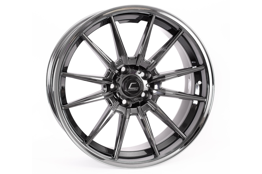 Cosmis Racing Wheels R1 19x9.5 +35 5x114.3 Black Chrome - Universal