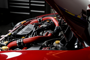 Grimmspeed Front Mount Intercooler Kit Black Core w/ Red Piping - Subaru STI 2008-2014