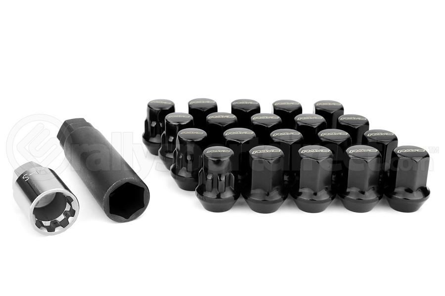 Volk Racing Rays 17 Hex 12x125 Lug Nuts Black W1712125b