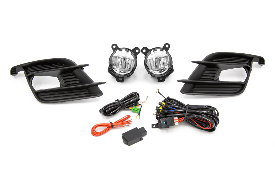 Winjet Glossy Black / Yellow Fog Light Kit (Part Number:WJ30-0519-09)