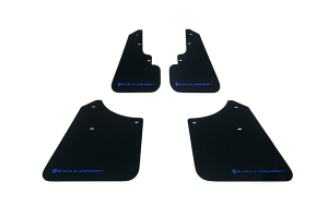 Rally Armor UR Mudflaps Black Urethane Blue Logo ( Part Number:RAL MF5-UR-BLK/BL)
