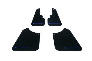 Rally Armor UR Mudflaps Black Urethane Blue Logo ( Part Number: MF5-UR-BLK/BL)