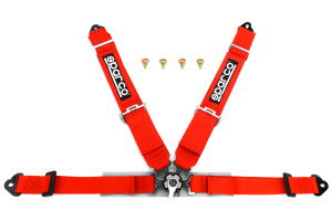 Sparco Harness Belt 4-Point Competition Red ( Part Number:SPR1 04715MRS)