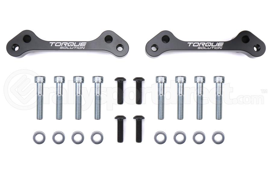 Torque Solution Rear Brake Caliper Adapter - Subaru Models (inc. 2008-2021 WRX / 2013-2021 BRZ / FR-S / 86)