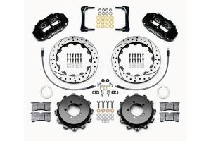 Wilwood FNSL4R 12.88in Rear Kit Drilled / Slotted Black - Subaru Models (inc. 2008-2014 WRX / STI)