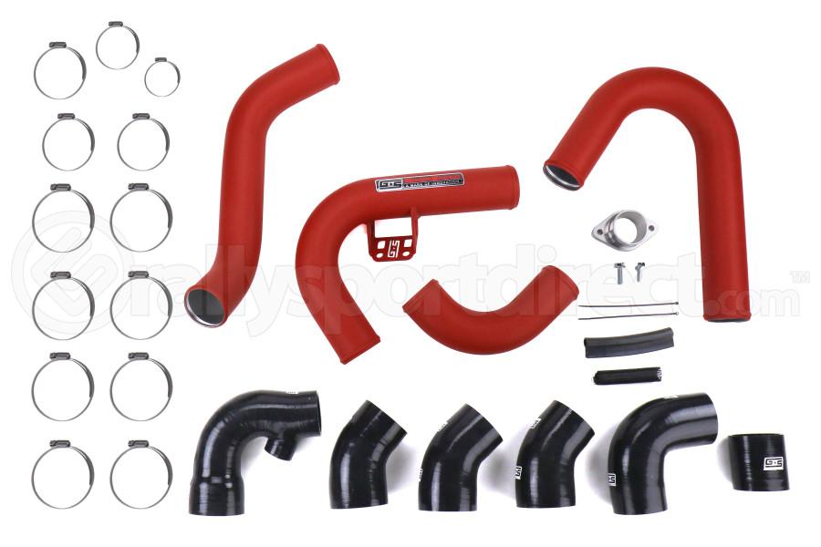 GrimmSpeed Front Mount Intercooler Pipe Kit Red - Subaru WRX 2015-2021