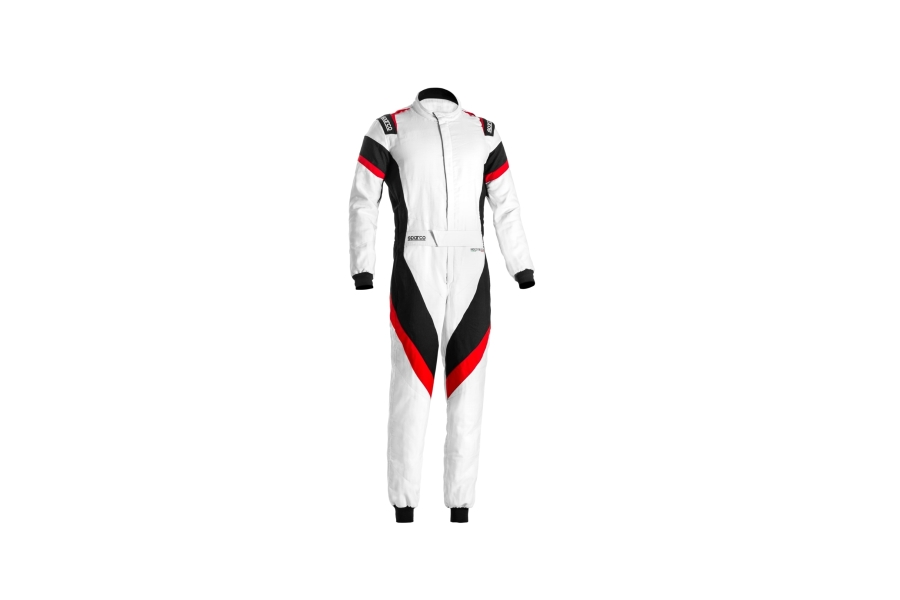 Sparco Victory Racing Suit White / Grey / Red - Universal