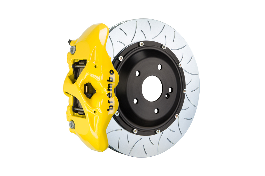 Brembo GT Systems Monobloc 4 Piston 345mm Type 3 Slotted Yellow - Honda Civic Type R/SI 2017+