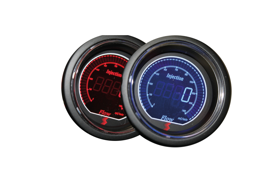Snow Performance Safe Injection Flow Gauge Red / Blue - Universal