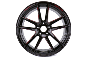 WedsSport RN-55M 18x9.5 +38 5x114.3 Black & Red Metallic - Universal