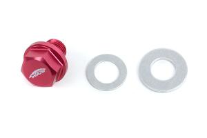 KICS Magnetic Oil Drain Plug Bolt M12x1.25 Red - Universal