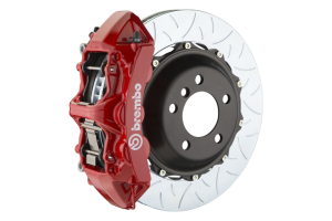 Brembo GT Systems Monobloc 6 Piston Front Big Brake Kit Red Type 3 Slotted Rotors - Honda Civic Type R 2017+