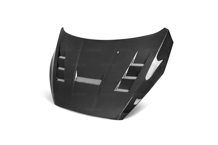 Seibon Carbon Fiber TV-Style Hood - Ford Focus 2015-2017